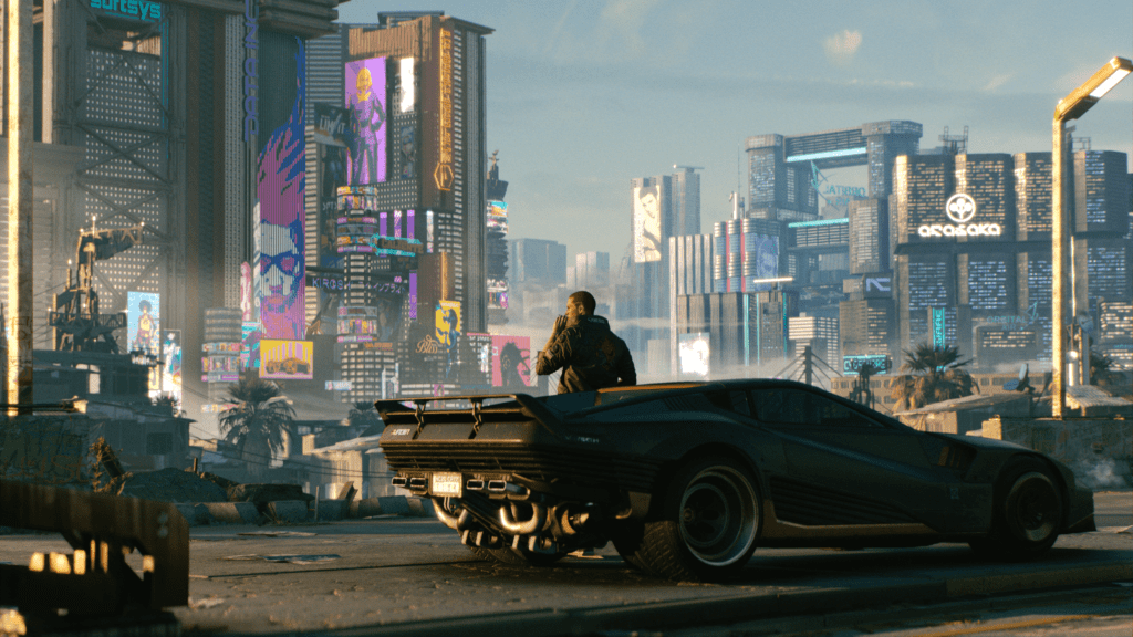Incredibly atmospheric world space of Night City Cyberpunk 2077