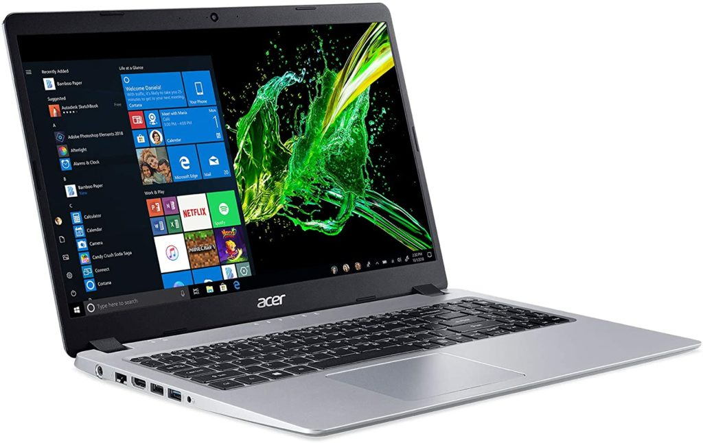 "Acer Aspire 5, 15.6"" HD, Slim Laptop (Silver) Best Budget Gaming Laptop 2020"