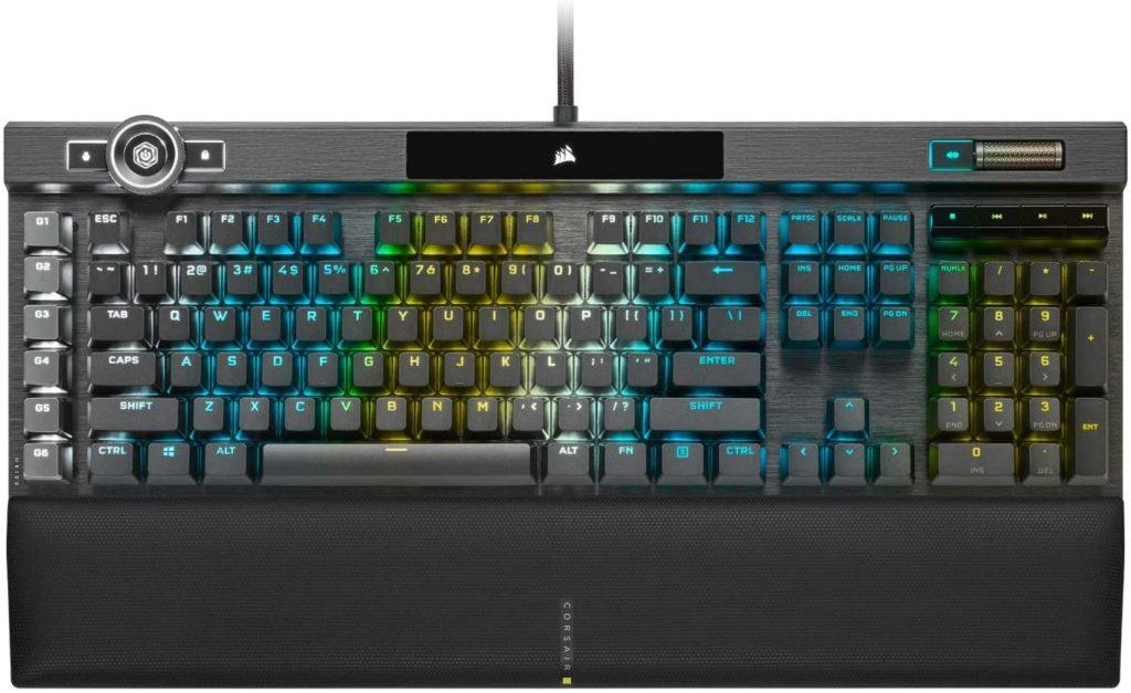 Corsair K100 RGB Optical-Mechanical Gaming Keyboard Best Gaming Keyboard 2020