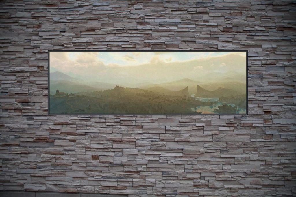 Best Custom Frame Art For The Witcher Fans Foggy Landscape Custom