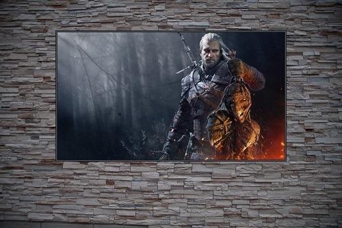 Geralt The Head Collector Custom Gaming Frame Art