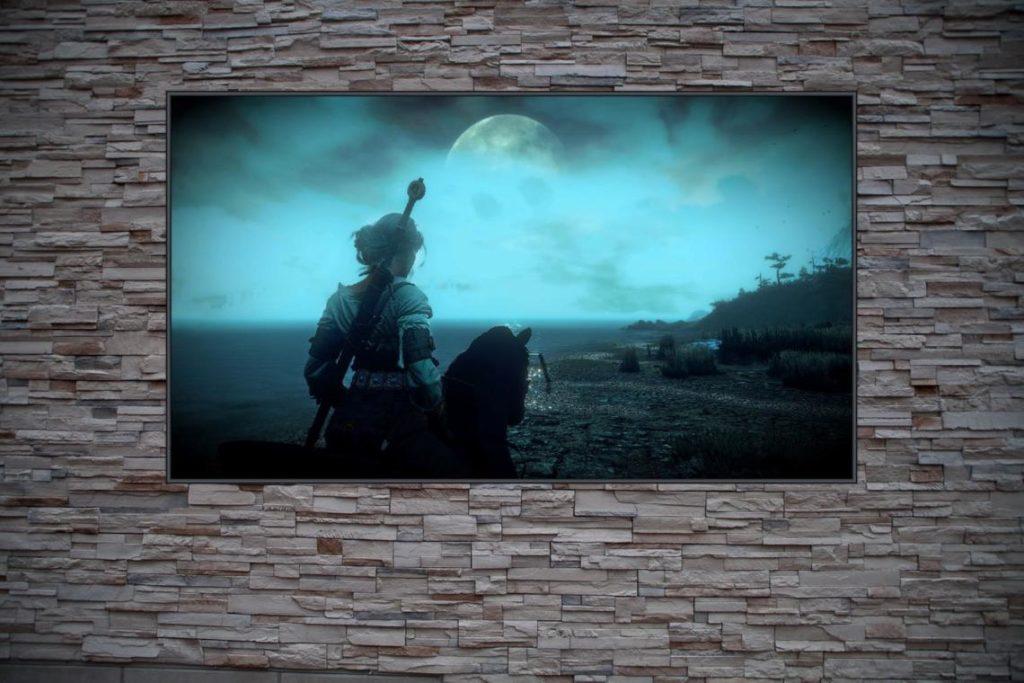 Best Custom Frame Art For The Witcher Fans Girl w/ Greatsword on Horseback Poster