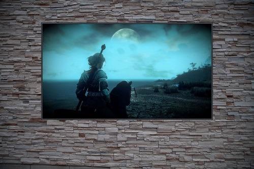 Girl w/ Greatsword on Horseback Custom Gaming Frame Art