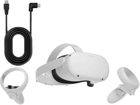 Best VR Headset 2021 Oculus Quest 2 White Advanced All-In-One Virtual Reality Headset