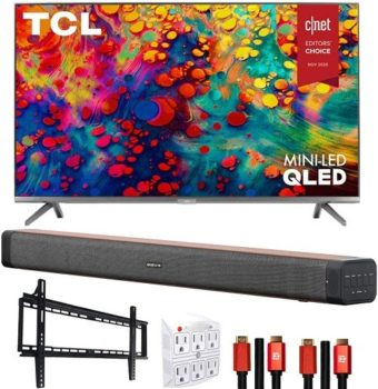"Best 4K TV TCL 65R635 65"" 6-Series 4K Smart TV Bundle"