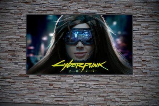 Best Gamer Gift For Cyberpunk 2077 Fans Tech Girl w/ Cyberpunk 2077 Text Custom Poster