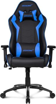 Best Gaming Chairs 2021 AKRacing Core Series SX Gaming Chair W/ High Backrest, Recliner, Swivel, Tilt, Rocker And Seat Height Adjustment Mechanisms - Blue