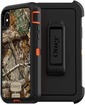 Otterbox OtterBox DEFENDER SERIES SCREENLESS EDITION Case For iPhone Xs & iPhone X - Blaze Orange/Black/Rt Edge Graphic