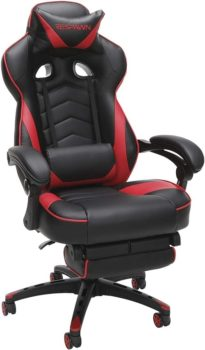 Best Gaming Chairs 2021 RESPAWN 110 Racing Style Gaming Chair, Reclining Ergonomic Chair with Footrest, in Red (RSP-110-RED)