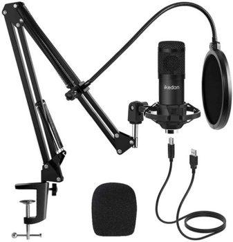 Best Microphone 2021 Studio USB Condenser Microphone, Ikedon Professional 192kHz/24bit Cardioid Recording Microphone