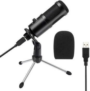 Best Microphone 2021 USB Microphone, Senli Condenser USB Mic with Tripod Stand for Gaming, Podcast & Chatting