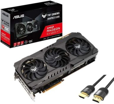 Graphics Cards 2021 Best AMD GPU, Forget About DLSS - ASUS TUF Radeon RX 6800 XT OC Graphics Card DirectX 12 Ultimate 16GB 256-Bit GDDR6