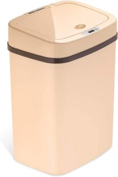 Top Fifty Gadgets Ninestars DZT-12-5WH Bedroom Or Bathroom Automatic Touchless Infrared Motion Sensor Trashcan