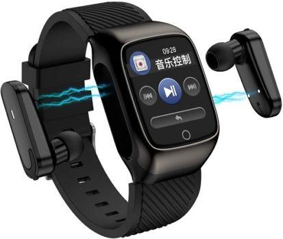 Top Fifty Gadgets S300 2 in 1 TWS Smart Bracelet Wireless Bluetooth Headset Combo Smart Watch For Men