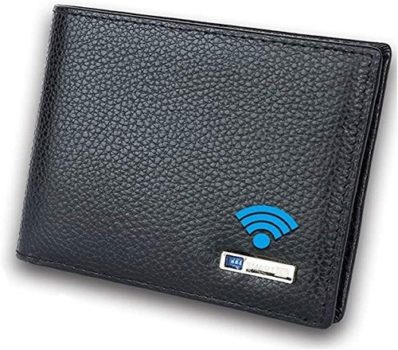 Top Fifty Gadgets Smart LB Smart Anti-Lost Wallet with Alarm, Bluetooth, Position Record, Bifold Cowhide Leather Purse