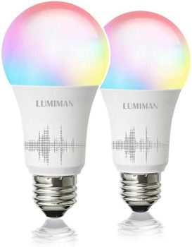 Top Fifty Gadgets Smart WiFi Light Bulb, LED RGBCW Color Changing, Compatible with Alexa and Google Home Assistant, No Hub Required