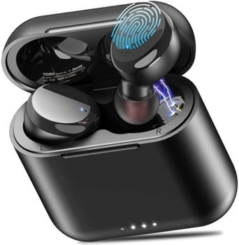 Top Fifty Gadgets TOZO T6 True Wireless Earbuds Bluetooth Headphones Touch Control with Wireless Charging Case