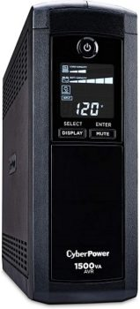 Power Supply CyberPower Intelligent LCD UPS Power Supply System, 1500VA/900W, 12 Outlets, AVR