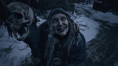 Resident Evil Village creepy old lady