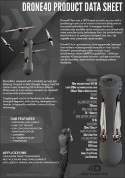 Defendtex Drone Data Sheet